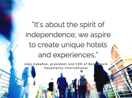 Quote from CEO of Benchmark Hospitality International